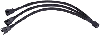 NMD&LR PWM Fan Splitter Cable, 4 Pin Fan Splitter CPU 4PIN PWM Cooling Fan 1 To 3 Adapter Cable, 27CM