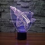 Yyhmkbaños Sensores De Luz Puertas Emergencia Segunda Armario Para Lámpara De Escritorio De Carga Táctil Creativa De Luz 3D Colorida Para Aviones Nueva Luz De Ilusión Led De Ahorro De Energía