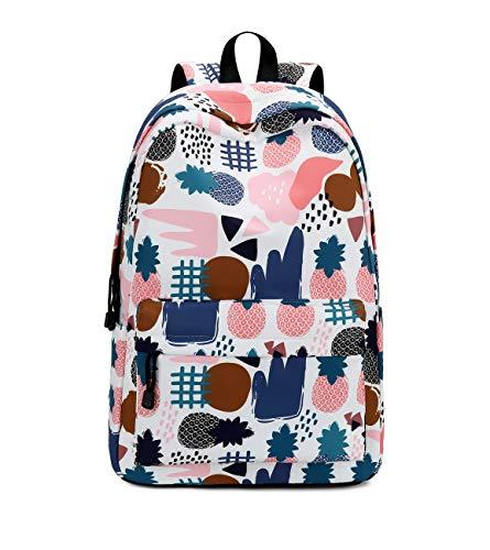 Joymoze Teen Mädchen Geräumig Stilvoll Büchertasche Süß College wasserdichte Rucksäcke für Damen Ananas