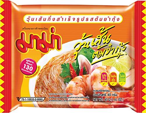 MAMA Instantglasnudeln Tom Yum – Leckeres Schnellgericht orientalischer Art – Authentisch thailändisch kochen – 30 x 40 g