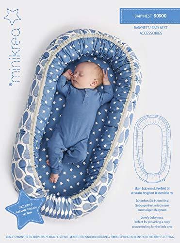 MAGAM-Stoffe Baby Nest Schnittmuster Wasserdichte Unterlage, Babydecke, Matratze und Kopfkissen inkl. Aufnäher Enno