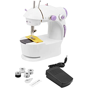 HBMALLINDIA Plastic Double Stitches Desktop Multi-Functional Electric Sewing Machine for Household (White)