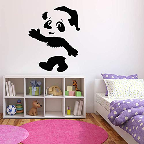yaonuli Cute Panda muursticker kinderkamer kleuterschool decoratie wandsticker auto sticker pet winkel raam decoratie