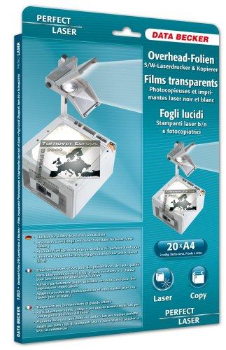 Data Becker 311203 Schwarzweiß-OHP Folie für Laser Drucker