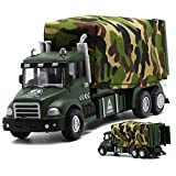 CORPER TOYS Military Vehicle Army Toys Die Cast Metal Alloy Truck Carrier Vehicle Pull Back Model Car with Lights and Sounds for Kids Toddlers Boys(2 Styles are Randomly Selected)