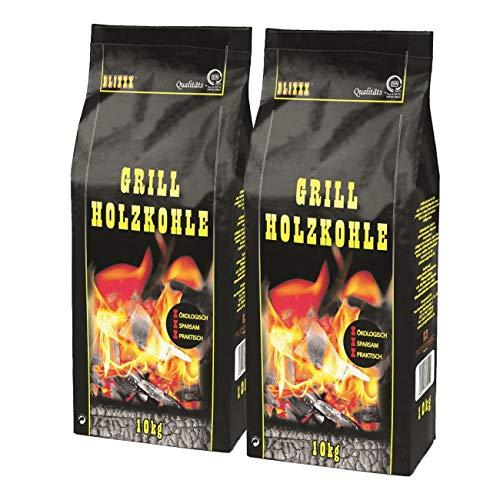 BLIXXX Holzkohle Grillkohle Holzkohlegrill Grill (20kg)