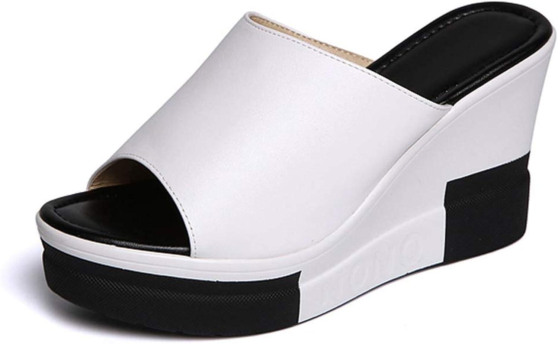 T-JULY Sandals Women Wedges shoes High Heel Slippers Summer Slip on Platform Slides Soft Comfortable Flip Flops