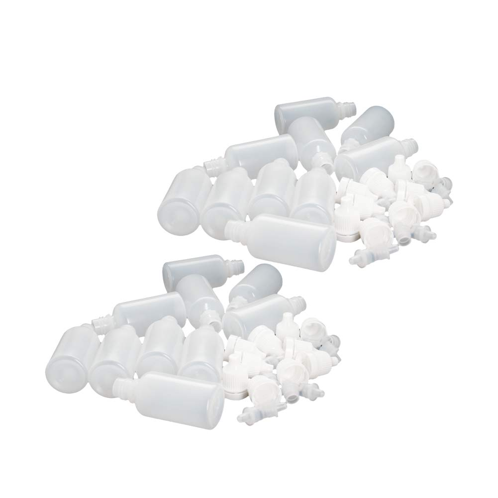 Othmro Lot de 15 compte-gouttes en plastique Blanc translucide 5 ml