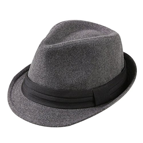 Leisial Invierno Sombrero de Jazz Algodón de ala Ancha Moda Color Só