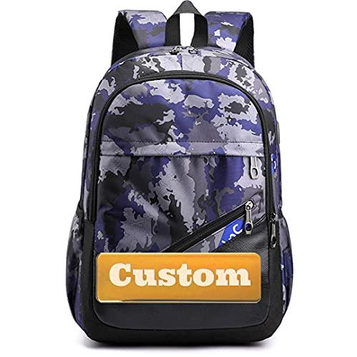 TCross Nome personalizzato Nome personalizzato Donne Escursionismo Zaino Leggero Unisex Borsa da viaggio Travel Daypack Kid (Color : K1-shenlanmicai, Size : One size)