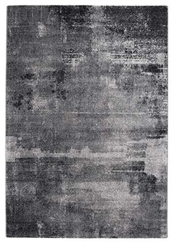 andiamo Webteppich, Teppich für Wohnzimmer, Schlafzimmer, Flur, Essbereich, 100% Polypropylen, 80x150 cm Beton grau