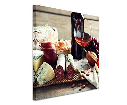 Fine Art Print auf Leinwand 90x90cm Food-Fotografie – Italienische Delikatessen