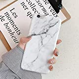 Herbests Funda Compatible con iPhone 6 Plus/6S Plus - Funda de Mármol Funda de Silicona Suave Carcasa Ultra Delgada Diseño Mármol Cubierta TPU Bumper Antishock Case Cover, Mármol#17