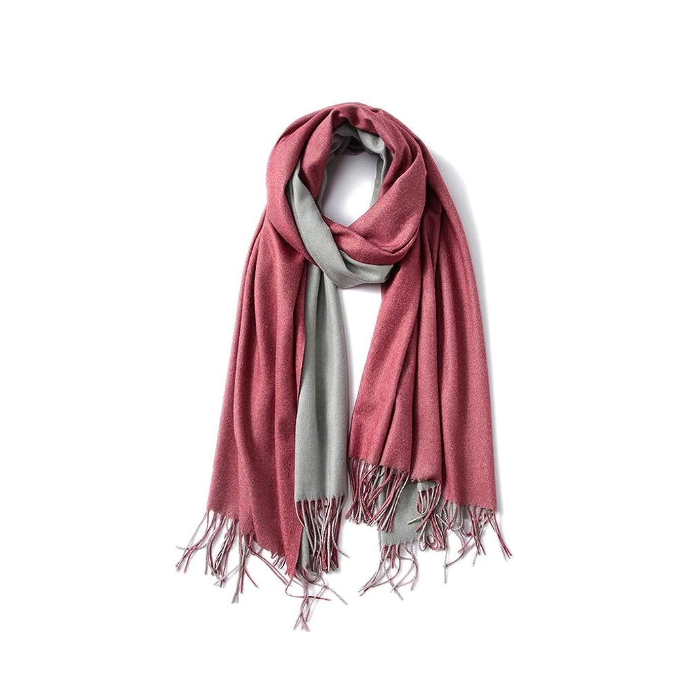 ラリー付録グラフ模造カシミヤ女性のスカーフ、現代のファッションステッチの色ソリッドカラーフリンジ秋冬暖かい装飾ショール、200 * 70CM,C