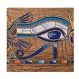 Cojines de Suelo Cuadrados,Cojín de Asiento de cojín de Silla,Papiro Egipcio Que representa el Ojo de Horus,Sentado para Oficina,hogar,Suave Espesar