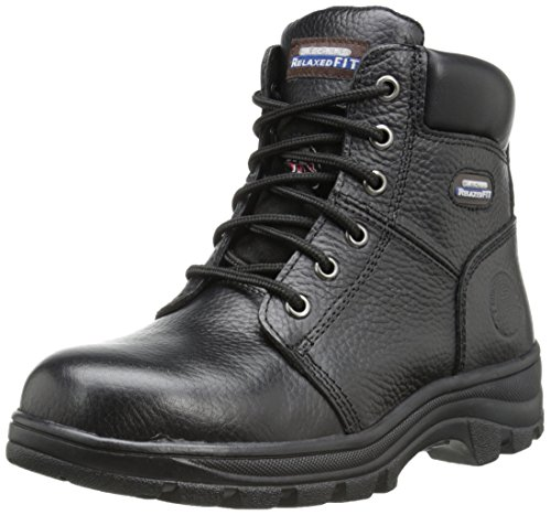 Skechers for Work Women's Workshire Peril Boot, Black, 7 M US