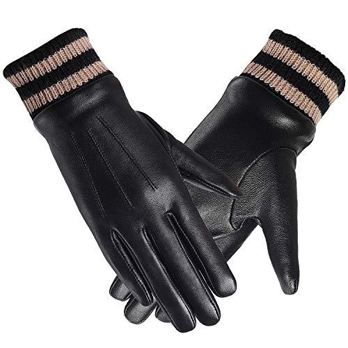 Dames Handschoenen FULL-HAND Touchscreen Leer Thermische Thisolate Winter Gift-Box Fietsen Werk Rijden smartphone Warm Voering,6 Kleuren, S-2XL