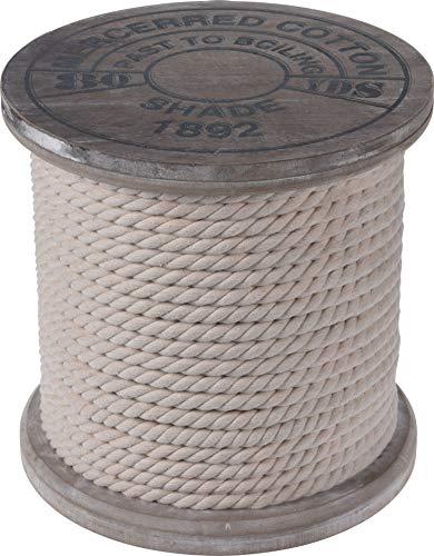 Fair-Shopping Hocker Holz-hocker Neu/OVP Ø 30 cm Beistelltisch Grau Maritim Tau N990