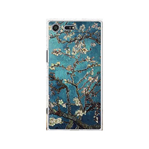Xperia XZ Premium Case,Gift_Source [Thin] Shockproof Case Flexible Rubber Silicone 3D Emboss Pattern Back Cover Soft TPU Crystal Clear Bumper Case For Sony Xperia XZ Premium (5.46') [Apricot flowers]