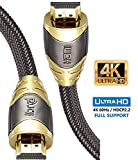 Ultra HD 4k HDMI Câble | High Speed par Ethernet | Full HD 1080P / 2160P / Professionnel / 3D TV / PS4 / ARC et CEC | Câble...