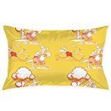 HOJJP Funda de Almohada Running Ostrich and Boxing Kangaroo Hotel Quality Throw Pillow Cases Multi Color Stardard Size 45x76CM(20x30IN)