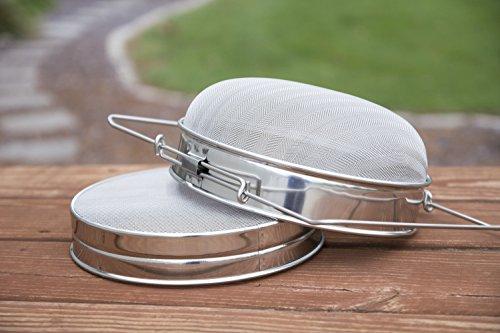 VIVO Stainless Steel Honey Strainer Double Sieve, Bee Keeping Equipment Filter BEE-V101H |