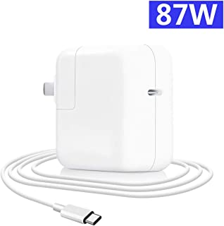 87W Mac Book Pro Charger USB C AC Wall Adapter Replacement Charger Compatible with MacBook 15 Inch 2017 Laptop 2015(A1534 A1706 A1707 A1708) 13 inch 2016 with 2m USB-C Cable