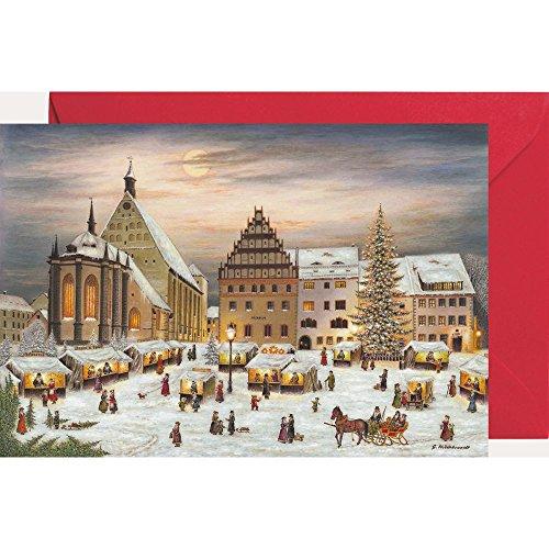 Ansichtskarte mit Adventskalender ''Freiberg''