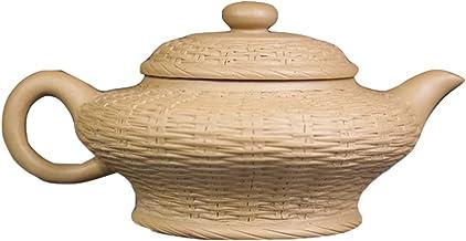 Yixing fioletowy gliniany garnek autentyczny ręcznie robiony surowej rudy sekcja błoto płaski bambusowy tkany garnek Kung ...