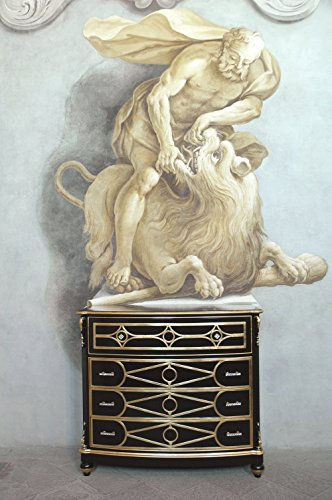 commode art. 250 noir et or