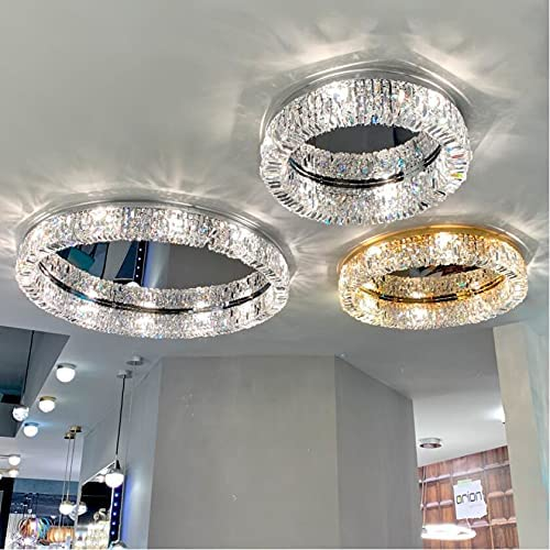 Ceiling Light New Modern Crystal Chrome Decorat Same day shipping lamp LED Brand new