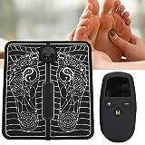 Colchoneta de masaje para pies, colchoneta de masaje eléctrica portátil plegable Acupresión Colchonetas para pies Cojín Masajeador de piernas Colchoneta Cuidado de los pies para aliviar el dolor