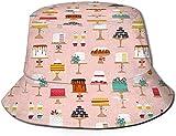 Bake Shop Sweet Cakes Confection Unisex Viaje al Aire Libre Sun Bucket Hat Summer Fisherman Cap