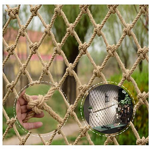 Gartenseilnetz Sicherheitsnetz Frachtnetz Kindertreppensicherheitsnetz, Fotowanddekorationnetz, Gartenzaunnetz, Hanfseilgeflechtnetz, Geeignet für Weihnachtsfestdekoration Treppenhausbalkonschutz Klet