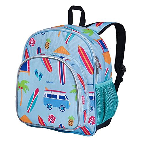 Wildkin 12 Inch Kids Backpack for Toddlers, Boys & Girls, 600 Denier Polyester Backpack for Kids, Ideal Size for School & Travel Backpacks, Mom's Choice Award Winner, BPA-free (Surf Shack)