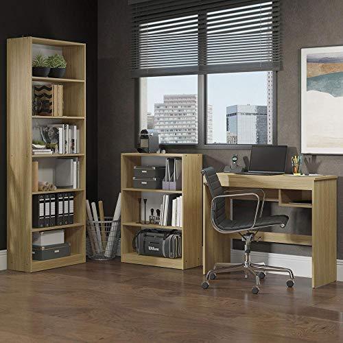 Escrivaninha Madesa Rubi + Estante 6908 + Estante 6907 - Carvalho