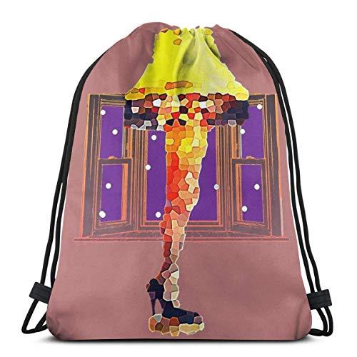 Una historia de Navidad lámpara con cordón bolsa de deporte N Bag bolsa de viaje bolsa de regalo