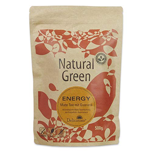 Delicatino Mate Tee- Energy DOYPACK, 1er Pack (1 x 500 g)