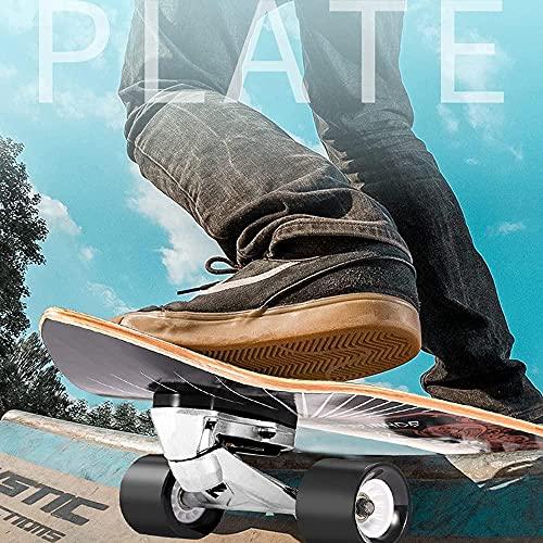 Skateboard Tablero Completo Niños Surfskate Longboard 30 CX4 Tabla de Surf de camión para Bombas Cruising Carven y para Surf turna el Skate Longboard del tiburón con el autocontrol Crucero patineta-A