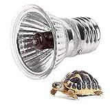 Haofy E27 Bombilla de Calefacción para Reptiles, UVA UVB Lámpara de Luz Solar de Espectro Completo Toma el Sol Lámpara de Calor para Reptiles Serpiente Tortuga Mascota(25W)