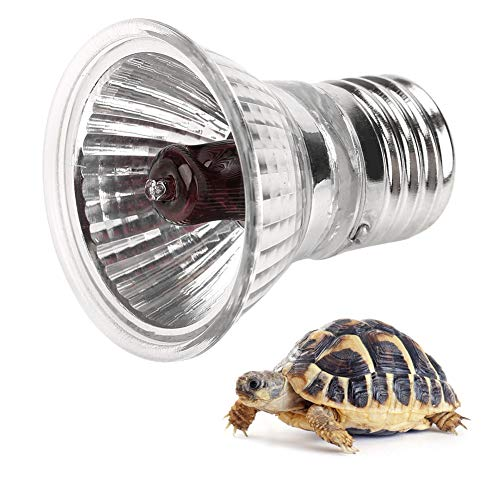 Haofy E27 Lampadina per Riscaldamento Rettile, UVA UVB Lampada Solare per Spettro Completo Sunbathe Lampada Termica per Rettile Snake Turtle Pet(25 w)