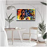 Moda Michael Jackson Photo Canvas Painting Wall Art Painting Pictures Home Baño Decoración Decoración del hogar -60x90cm Sin marco