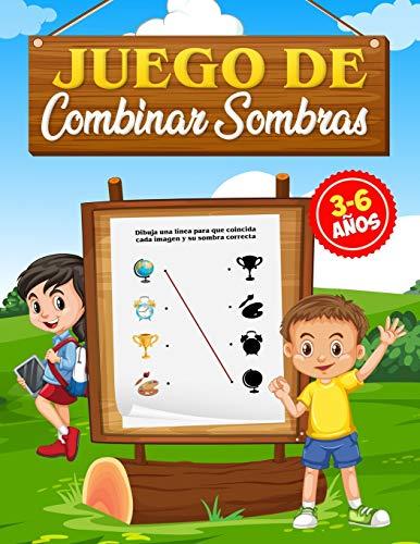 Juego de Combinar Sombras, 3-6 Años: Libros de actividades para preescolares, niñas y niños de 3 a 6 años