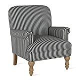 Dorel Living Jaya, Black Stripe Accent Chair,