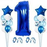 Globo de Cumpleaños 1 año, Globo 1 Año, 1 Cumpleaños Niño, Globo Numero 1 Gigantes, Globo Cumpleaños 1 Año, Number Balloons, Set Globos Decoracion Bautizo Comunión Fiesta Cumpleaños Party