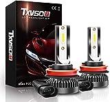 Knoijijuo 2pcs H1 / H4 / H7 / H8 / H9 / H11 Car Kit Xenon 8000LM Kit de sustitución de halógeno de xenón, 80W, 6000K Blanco, 40W / Bulbo, 2pcs / Set,H8H9H11