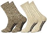 Lote de 2 o 4 pares de calcetines noruegos en lana con punto