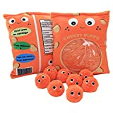 Cheesy Puffs Plush Toy, Puff Cheese Puff Stuffed Toy Game Pillow, Delicious Food Dessert Package, for Girlfriend Kids Boys Girls Birthday Gift (6pcs a Bag)