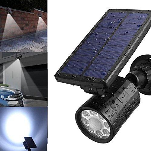 Bazaar ARILUX Lampe solaire 8 LED PIR détecteur de mouvement extérieur étanche paysage jardin Applique murale avec 4 modes