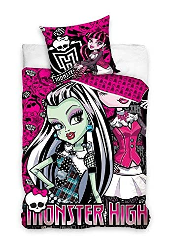 Monster High Juego Cama (algodón; Varios. tamaños 135x 200+ 80x 80cm